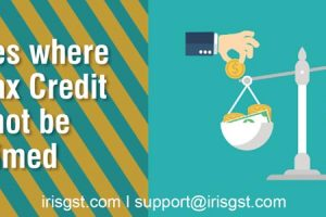 Cases where Input Tax Credit cannot be availed under GST
