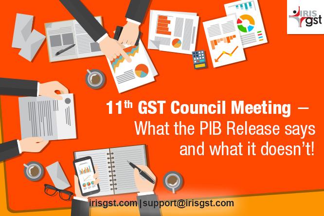 11th GST Council Meeting