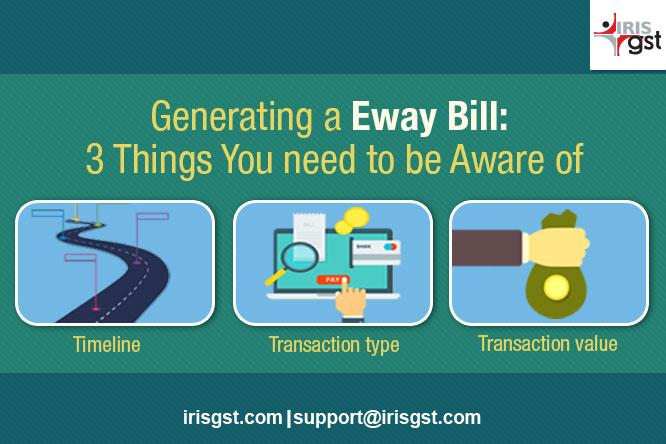 Generating an E way Bill