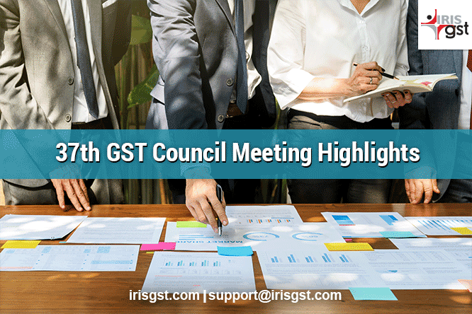37 GST Council Meeting