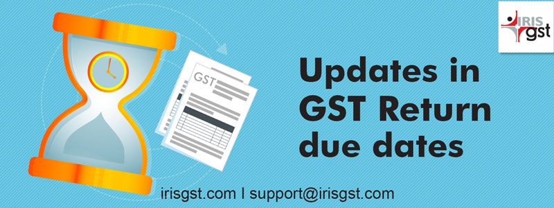 Filing Due Dates extended for GSTR 1