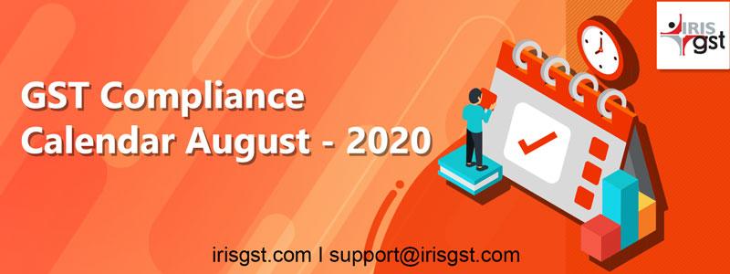 Compliance Calendar August 2020