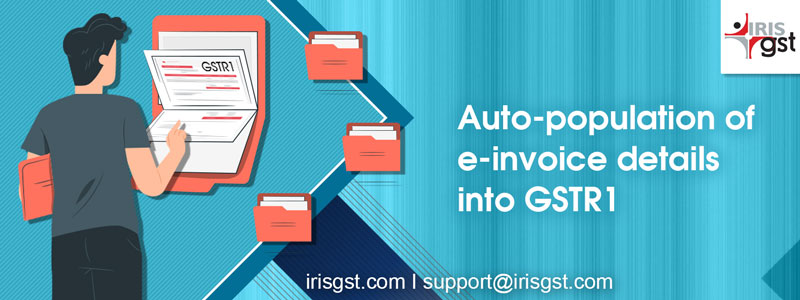 Auto-population of e-invoice details into GSTR1