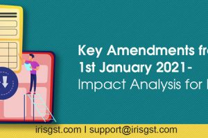 Key GST Amendments from 1st January 2021 – Impact Analysis for Businesses
