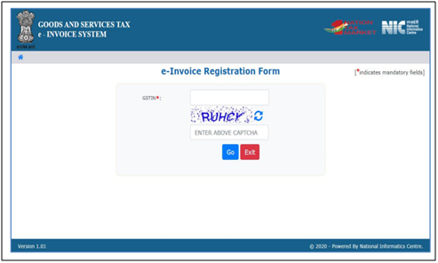 E-invoicing registration form
