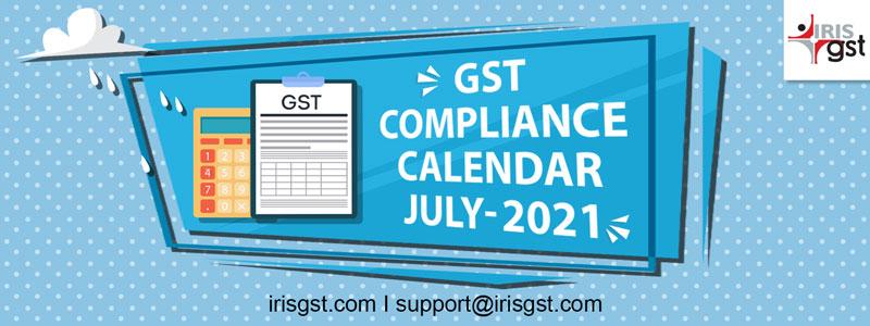 GST Compliance Calendar - July
